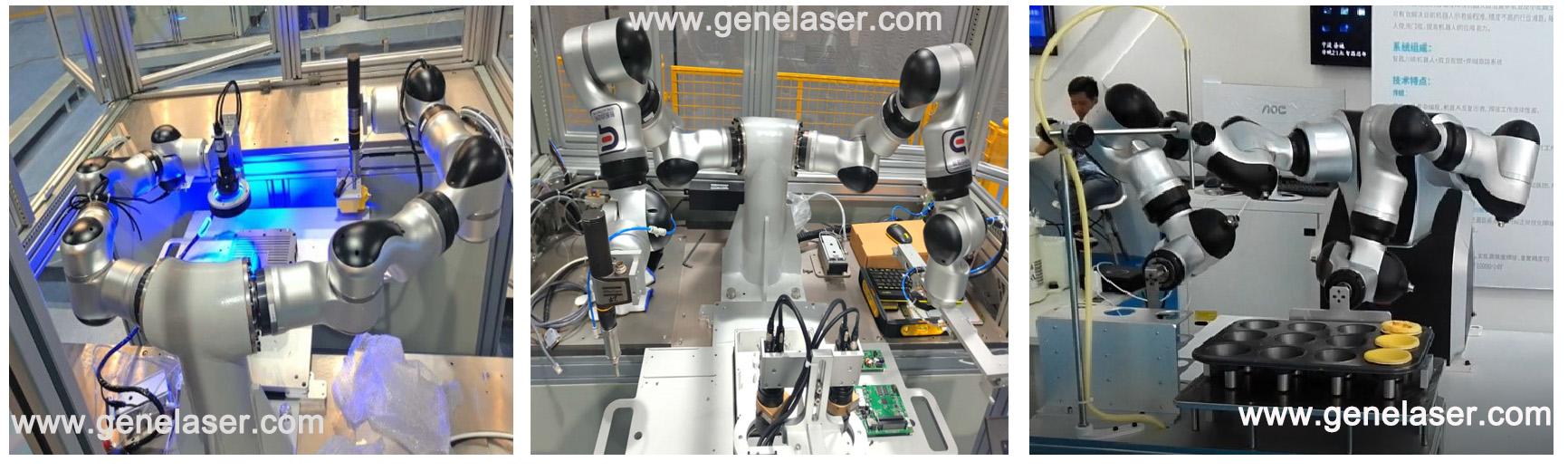 苏州智殷自动化7轴双臂协作式机器人应用场景实图协作机械臂-协作机械手-7轴柔性机械手