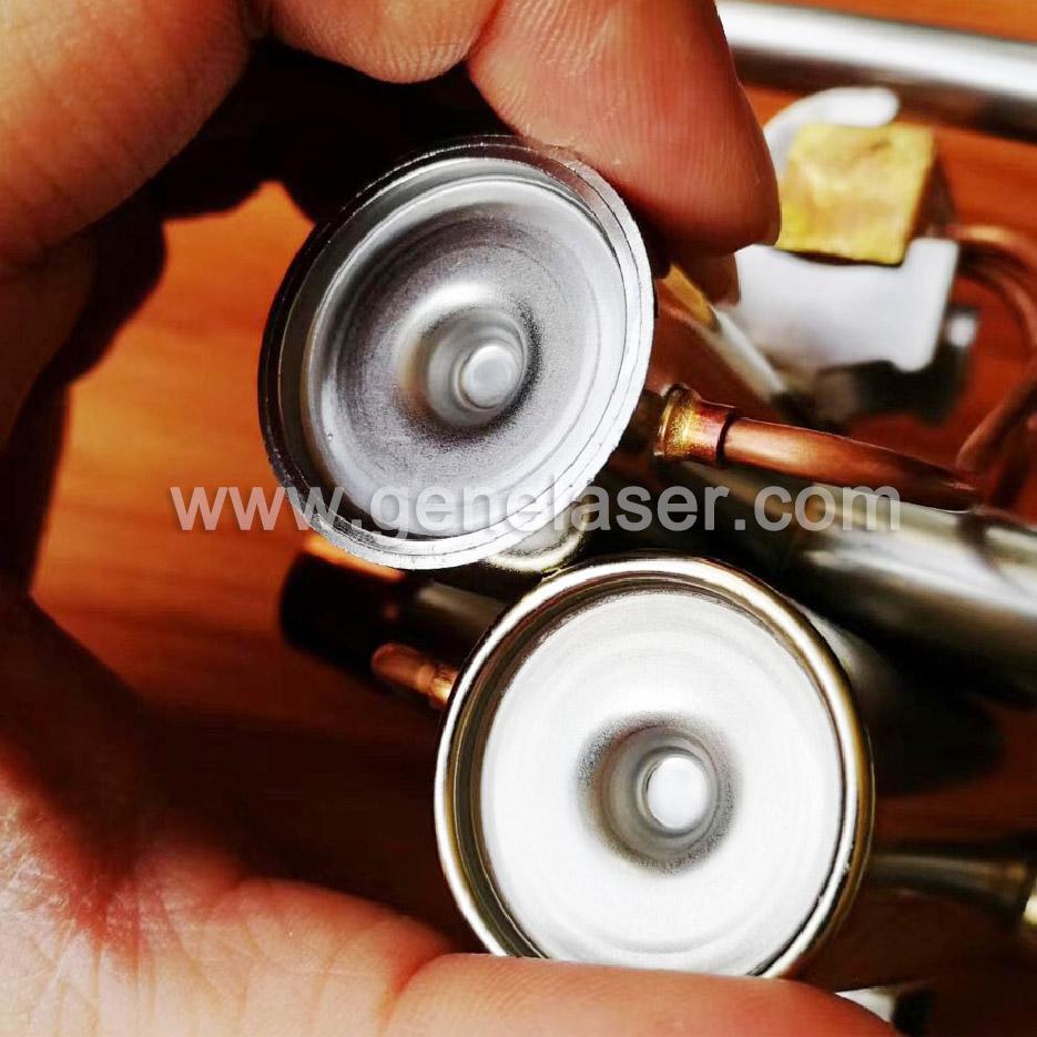 智殷激光焊接机空压机散热翅片激光焊接