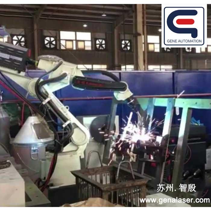 苏州智殷全自动焊接机器人川崎弧焊机器人变位机焊接工装